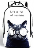 Cat wearing Sunglasses Backpack